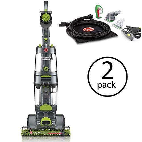 Hoover Dual Power Pro Deep Carpet Cleaner w/Accessory Pack & Dual Tanks, FH51200 (2 Pack)