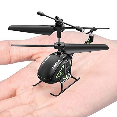 SYMA Hubschrauber ferngesteuert Mini Helikopter Fernbedienung RC Helicopter Indoor Flugzeug Geschenk Kinder S100 3.5 Kanal 2.4 GHz LED Gyro Schwebefunktion