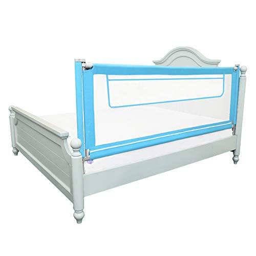 Barrera de Cama, Barandilla de Cama Extra Alta de 92 cm para niños/niños, barandilla de Seguridad portátil para Baba/bebés/niños pequeños, Azul (Tamaño : 190cm)