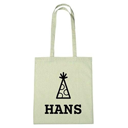 JOllify Baumwolltasche - Happy Birthday für HANS - Hut
