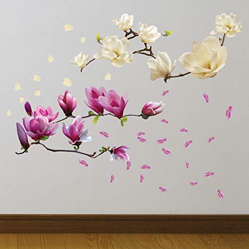 Walplus ' Magnolia Fiori ' rimovibile Autoadesivo Adesivi da parete murali STANZA Bebè UFFICIO DECORAZIONE CASA