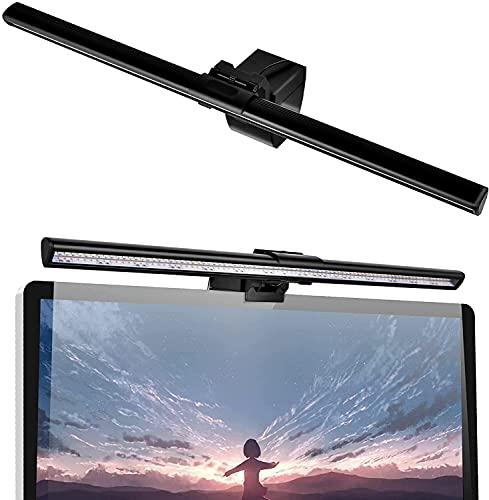 Aigital LED モニターライト, モニター掛け式ライト , スクリーンバー USBライト, 3段階色温度10段階光輝度調整可能デスクライト , 光反射制御目に優しいクリップ式ライト,USB給電式スペース節約パソコンライト