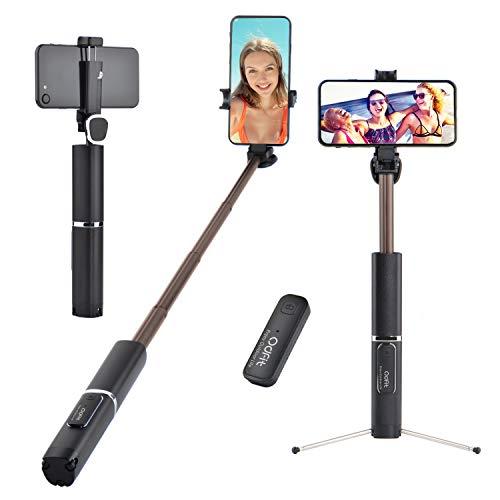 Bluetooth Selfie Stick Stativ, 3-in-1 einziehbarer Selfie-Stange Stab, 360 ° drehbarer drahtloser für iPhone /Samsung Galaxy / Huawei / Hirse / LG / HTC / 3,5 ~ 6 Zoll