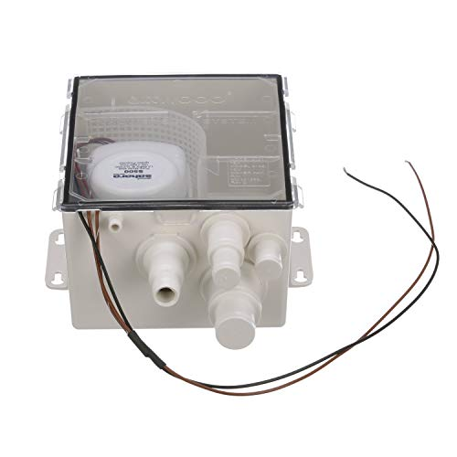 Attwood 4141-4 Shower Sump Pump System, 500 GPH Model, 12-Volt, 22-Inch Wire, Standard Box, ¾-Inch Interior Diameter Outlet Hose
