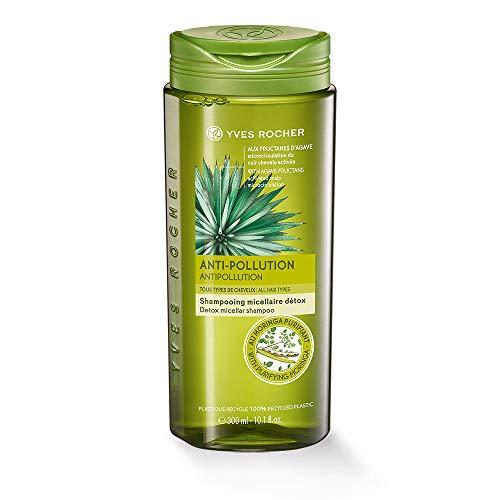 Yves Rocher PFLANZENPFLEGE HAARE Detox Mizellen-Shampoo, Haar-Shampoo mit Moringasamen-Extrakt, 1 x Flacon 300 ml