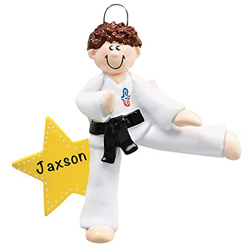 Personalized Christmas Ornaments Karate Boy Decor – Charming 2021 Ornament Holiday Decorations Customized Gifts for Sports Fans – Polyresin Karate Ornaments Decorations for Christmas Tree