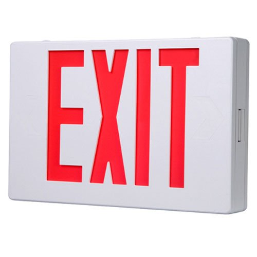ALL-PRO APX6R, AC Only, White Housing, LED Exit, Red Letters