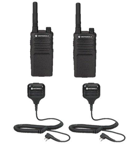 2 Pack Motorola RMU2040 Radios with Speaker Mics