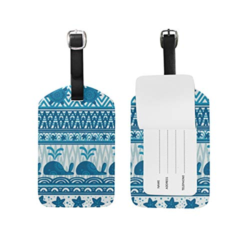 Chic Houses Etiquetas de viaje para equipaje con diseño de tortuga, ballena, estrella de mar, para equipaje 2031554