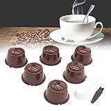 VIPIH 6 piezas reutilizables rellenables filtro de café cápsula taza para D-olce Gusto