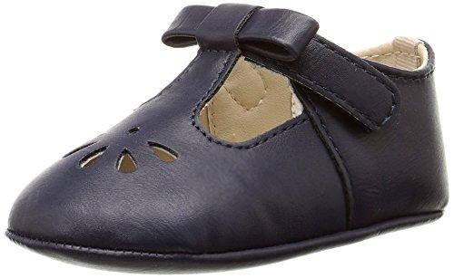 Mejale Baby Boy Girl Shoes Soft Soled Leather Moccasins Anti-Skid Infant Toddler Prewalker(Navy Blue,0-6 Months)