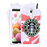 Coffee Pink Case for LG Tribute Dynasty/Zone 4/Aristo 2/Aristo 3/Tribute Empire/Fortune 2,3D Cartoon Animal Character Design Cute Soft Silicone Kawaii Cover,Cool Cases for Kids Boys Girls (K8 2017)