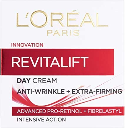 L'Oreal Paris Revitalift Anti-Ageing + Firming Pro Retinol Day Cream, Anti Wrinkle Face Cream 50 ml