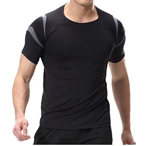 NOBRAND Schnell trocknendes T-Shirt für Herren Training und Fitness Anzug Gr. 56, asche