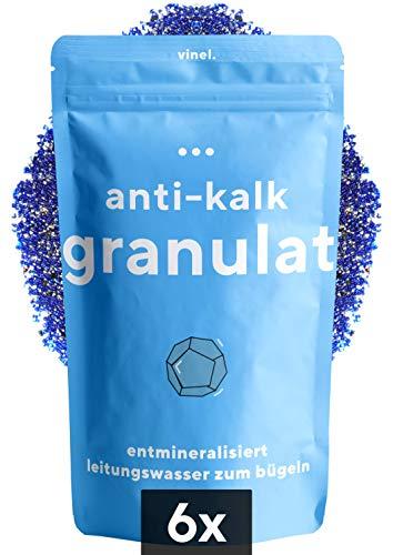 vinel® - (NEU) Kalkschutzgranulat für Bügelsysteme mit Wasserfilter - Nachfüllpackung, Entkalker Kalkschutz Ersatz Granulat