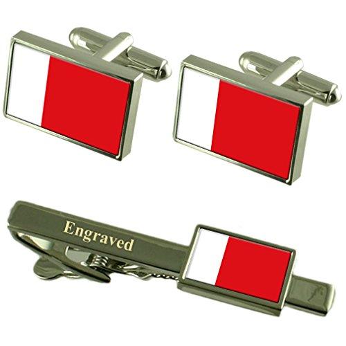 Select Gifts Dubai Fahne Manschettenknöpfe gravierte Krawattenklammer passende Box Set