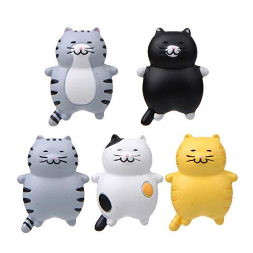 VOSAREA, 5 magneti magnetici per Frigorifero a Forma di Gatto, Animali per Ufficio, lavagne Bianche, calendari, Decorazione per Bambini