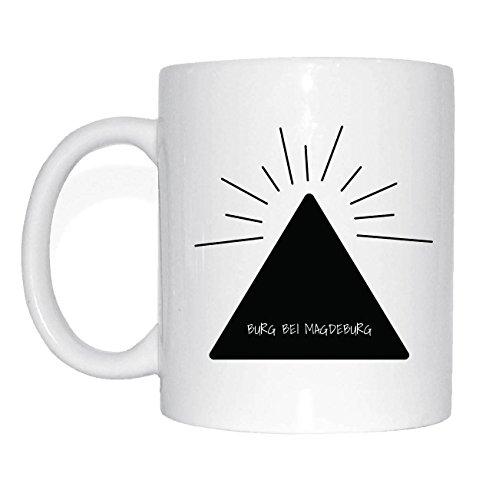 JOllify BURG BEI MAGDEBURG Kaffeetasse Tasse Becher Mug M1454 - Farbe: weiss - Design 11: Hipper Hipster