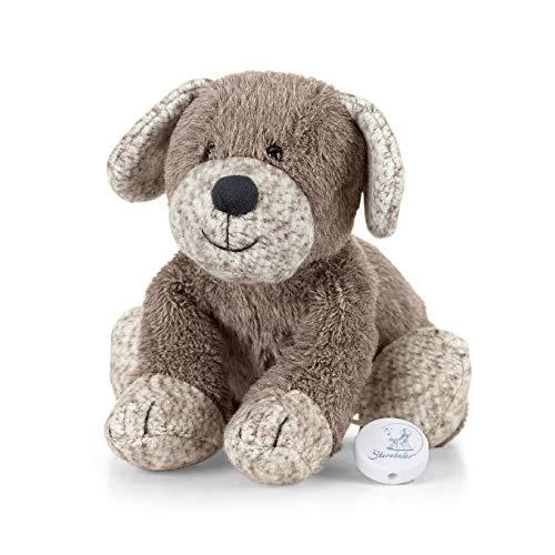 Sterntaler 6011961 Spieluhr, Stofftier Hund Hanno, Integriertes Spielwerk, Größe: M, Braun