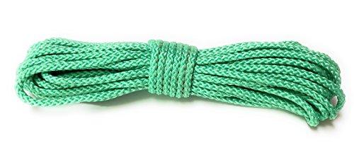 Viva Nature Polypropylen-Seil PP-Seil 5 mm 10m Flechtleine Tau-Werk Festmacher Schnur Universalseil Allzweckschnur (Mint)