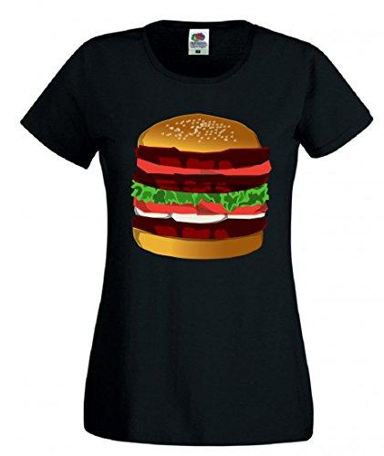 Camiseta para hombre, mujer y niños con diseño de hamburguesas, alimentos, sándwiches, carne, quesebraderas, cenas, almuerzos, carne de vacuno, sabrosa. Negro 128