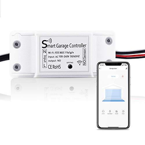 Smart Garagentoröffner, Maxcio Wlan Garage Door Schalter, Kompatibel mit Google Home, Smarrt Life APP Steuerung, Timer und Countdown, Betriebsaufzeichnung