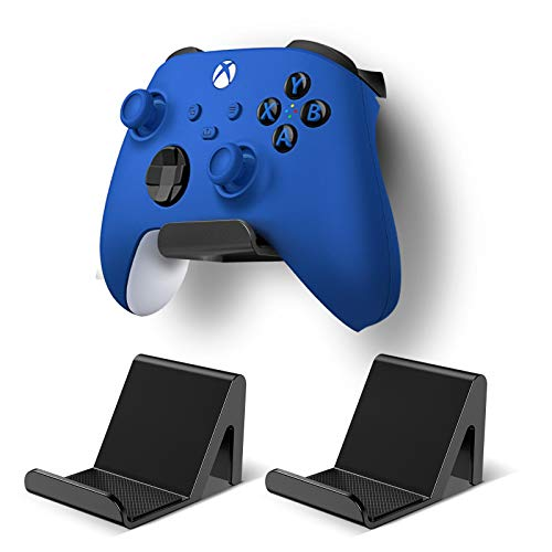 3 Pack Controller Holder Stand Built in Anti-Slip Pads for PS5 PS4 Xbox One Switch Pro Gamepad Controller Wall Mount 3M Adhesive/Screws, Universal Controller Accessories Shark 13 Mini by 6amLifestyle