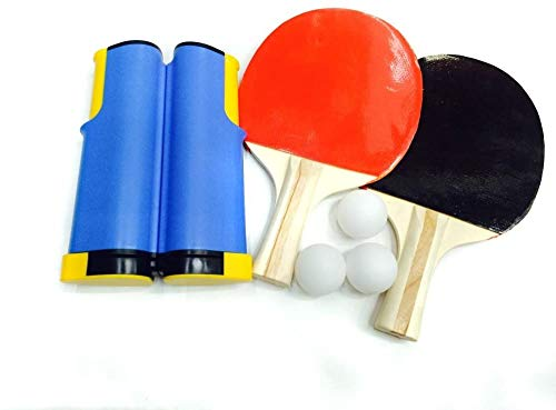 Affordable Ping Pong Paddle Set with Retractable Net - 2 Table Tennis Rackets -3 Balls for Any Desk ...