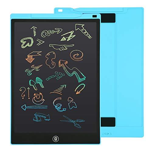 EooCoo 12 Zoll LCD Schreibtablett, Löschbare Elektronische Memoboard, Digitale Zeichenblock Doodle Board, Schreibtafel Buntes Display, Blu