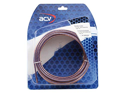Cable de haut parleurs 2x2.5mm2 - CCA - Transparent - 10m