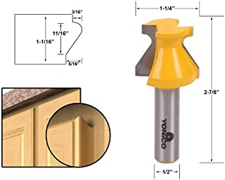 Yonico 13128 Door Lip and Finger Grip Router Bit with 1/2-Inch Shank