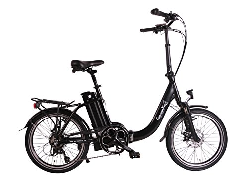 GermanXia® Premium E-Bike E-Faltrad/Klapprad Mobilemaster Touring Plus CH 9G Shimano, 250W HR-Antrieb/15,6 Ah, bis 140 km Reichweite nach StVZO, Comfort-Lenker, Farbe Schwarz