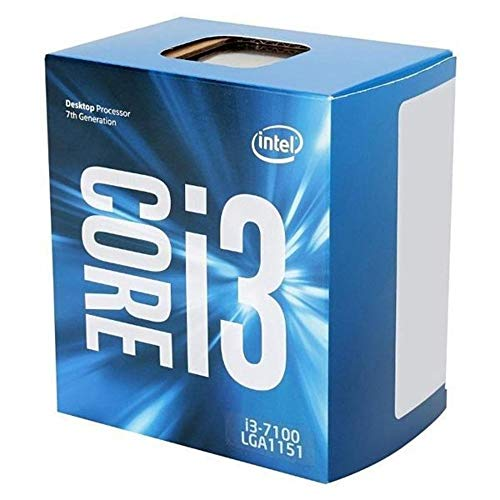 Intel BX80677I37100 - 51W Core i3-7100 Kaby Lake de doble núcleo a 3.9 GHz LGA 1151, procesador de escritorio Intel HD Graphics 630 (Reacondicionado)
