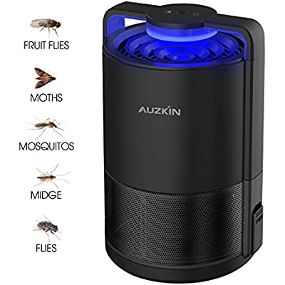 AUZKIN Mosquito Killer Trap Indoor Insect Trap USB Powered Mosquito Lamp Flying Bug,Fruit Fly,Gnat Killer Fly Killer UV Insect Light Trap Non-Toxic Pest Control for Home Balcony