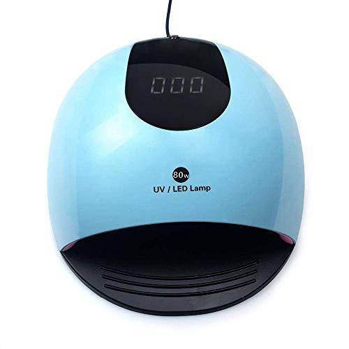XYSQWZ Sèche-Ongles à Glace, Machine de photothérapie à Ongles 80W 36 Double Source de lumière en Raison des lumières Machine à Ongles à Induction Automatique à séchage Rapide (Bleu)