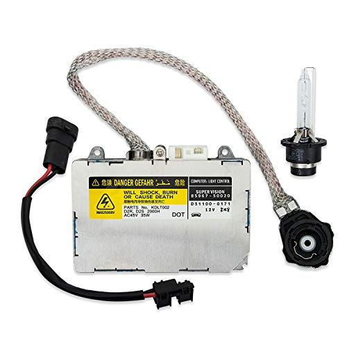 Xenon HID Headlight Ballast Control Unit with Igniter and D2S Bulb Compatible with Lexus ES300 IS300 LS430, Mazda 6 RX-8, Porsche 911 Boxster Cayman, Toyota Avalon Sienna, Replaces KDLT002 DDLT002