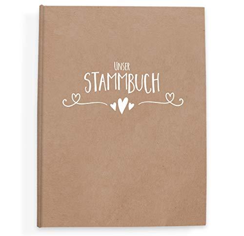 bigdaygraphix Stammbuch der Familie Familienstammbuch Simple Vintage weiß