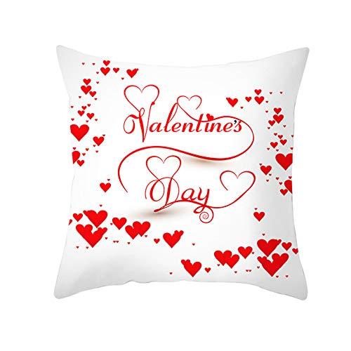 NQING Funda De Almohada De Abrazo De Árbol De Amor De San Valentín, Funda De Almohada Cuadrada Súper Suave, Cómoda Y Transpirable para El Dormitorio, La Sala De Estar Y La Oficina
