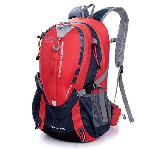 Caldo 登山バッグリュック大容量リュックサック25L防災リュックアウトドアバックパック登山リュック収納性抜群旅行登山用リュック(赤)