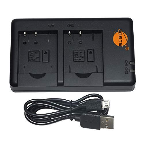 DSTE Fast Charging USB Dual Batería Cargador Compatible para Sony NP-BN1,Cyber-Shot DSC-QX10, DSC-QX100, DSC-T99, DSC-T110, DSC-TF1, DSC-TX5, DSC-TX7, DSC-TX9, DSC-TX10, DSC-TX20, DSC-TX30