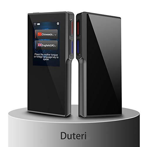 Dispositivo de Tradutor com Tela Toch de Alta Definição de 2,4 polegadas, Suporte a 70 Idiomas Voz Inteligente para Viajar no Exterior Aprendendo Off-Line Compras e Conversas de Gravação de Bate