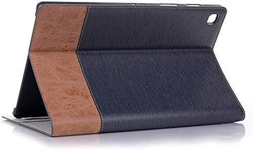 Jennyfly - Funda protectora rígida con ranura para tarjetas y función atril de fácil visión, diseño retro 2020 Galaxy Tab S6 lite 10.4(P610/P615) azul oscuro