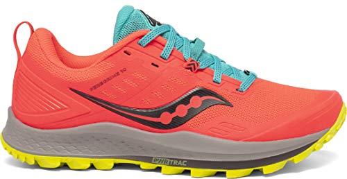 Saucony Women's S10556-35 Peregrine 10 Running Shoe, Vizired | Citron - 8.5 M US