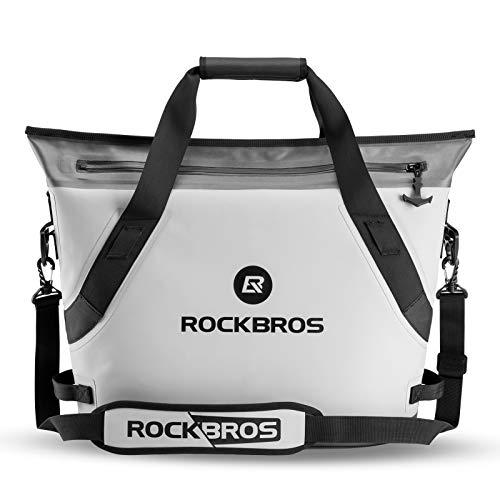 ROCK BROS Weicher tragbarer großer Strandkühler 36 Dosen auslaufsicher weiche Seitenkühler isoliert Soft Pack Kühler wasserdicht für Strand, Camping, Angeln, Schwimmen, Outdoor-Aktivitäten, Party, Picknick