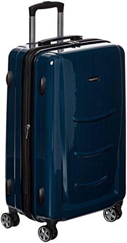 AmazonBasics Hardshell Spinner - 20' Cabin Size, Navy Blue
