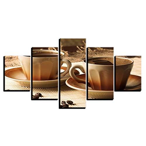 FGVBWE4R HD Gedruckt Kunst Malerei Modularen Bilder Leinwand Rahmen Dekoration 5 Panel Kaffee Wohnzimmer Wand Cuadros Poster-XXL