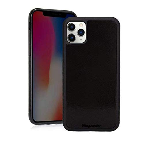 Wingcases for iPhone 11 Pro Max 6.5 inch Case, Anti Gravity Strong Adhesive Stick on The Mirror Glass Flat Smooth Surface Selfie Cover with Dust Proof Film