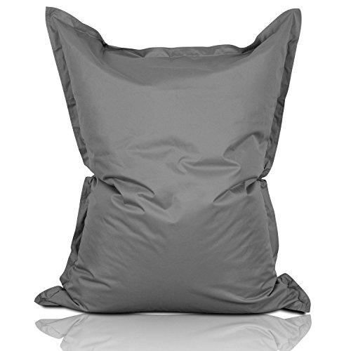#DoYourOutdoor Premium XXL Sitzsack (ca. 360Liter Volumen/ca. 140x180cm) Indoor & Outdoor / 16 Farben wählbar & EPS-Füllung (Made in Germany)! dunkelgrau