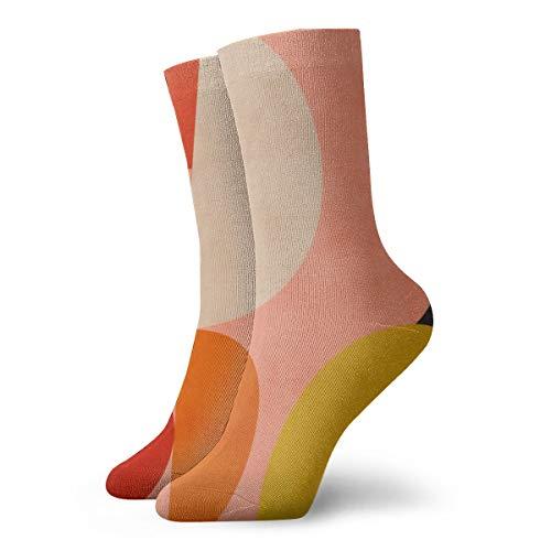 Geometrie-Form Mitte Jahrhunderts organische Rouge Curry Petrol Athletic Crew Socken Laufsocke Dicke Workout Socken Ganzjahressocken für Herren und Damen