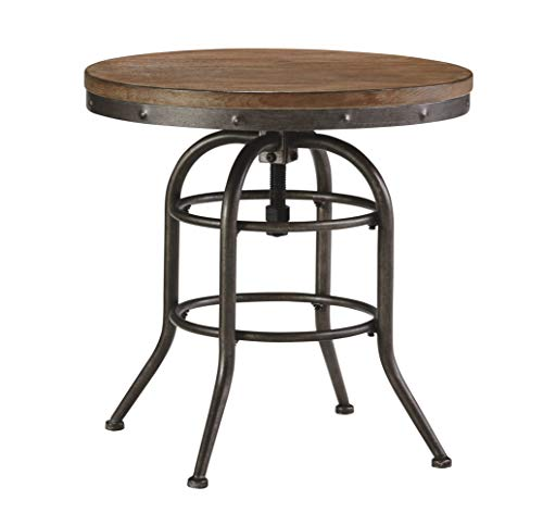 Signature Design by Ashley Vennilux (Brown-Round End Table) (Set of 1)